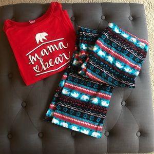 Super cute Mama bear pajamas